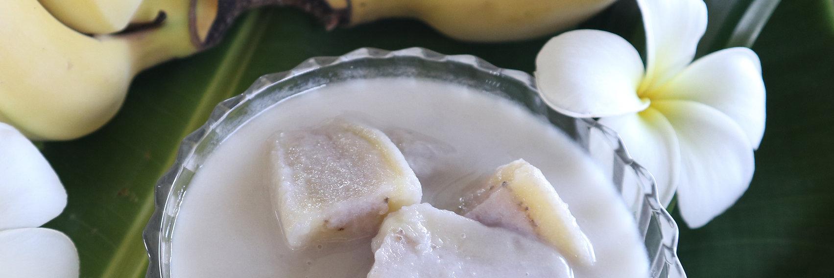 bananas in coconut milk Bees Garden Cooking School Chiang mai