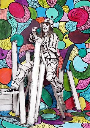 Marianne Talmon, peintures, sculptures, Body art, tableaux vivants, Lyon