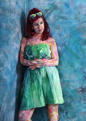 Marianne Talmon, peintures, sculptures, Body art, tableaux vivants,Lyon