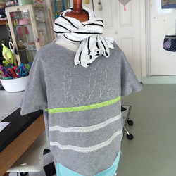 Customizable shirt in sweater knit