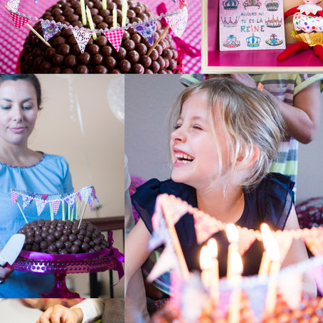 A wee bunting for Louisa's birthday (DIY for kids)