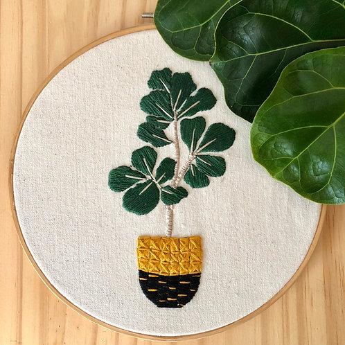 Kit de broderie Ficus Lyrata