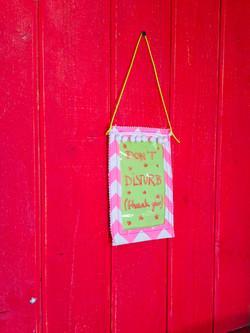 Dry erase door sign