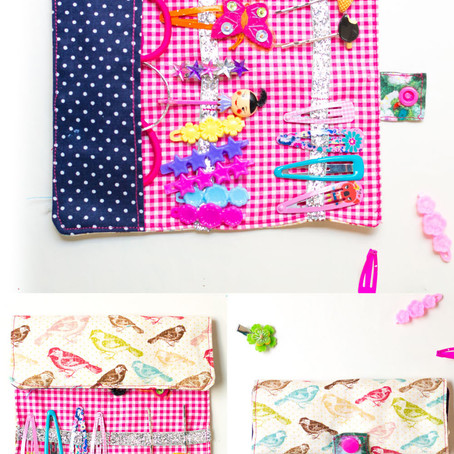 A tutorial for young sewist to make a super cute hair-clips wallet !