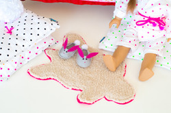 Fur bear rug for doll
