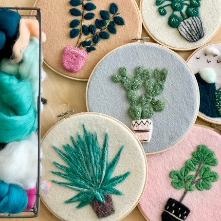 Needle Felting Embroidery, how it became workshops...