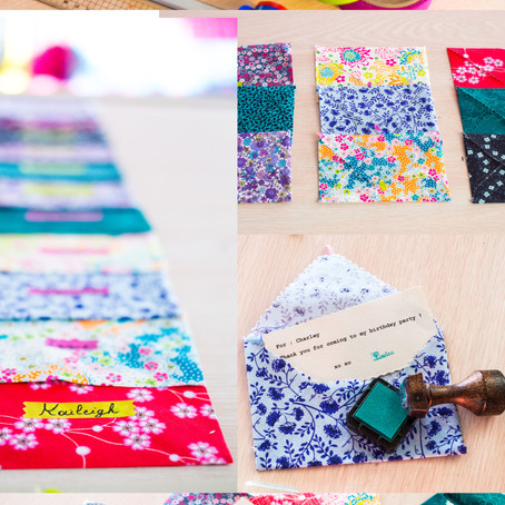 My little print fabrics envelopes : DIY