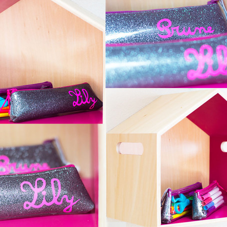 Sparkles again ! but for pencil cases...