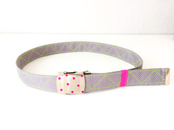 Military belt with customized fabric