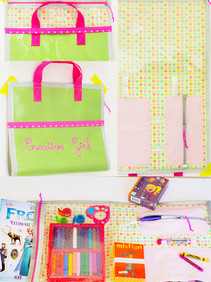 A craft supplies case for young travelers