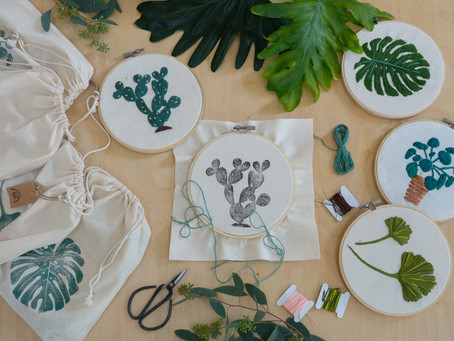 Embroidery kits for plant lovers
