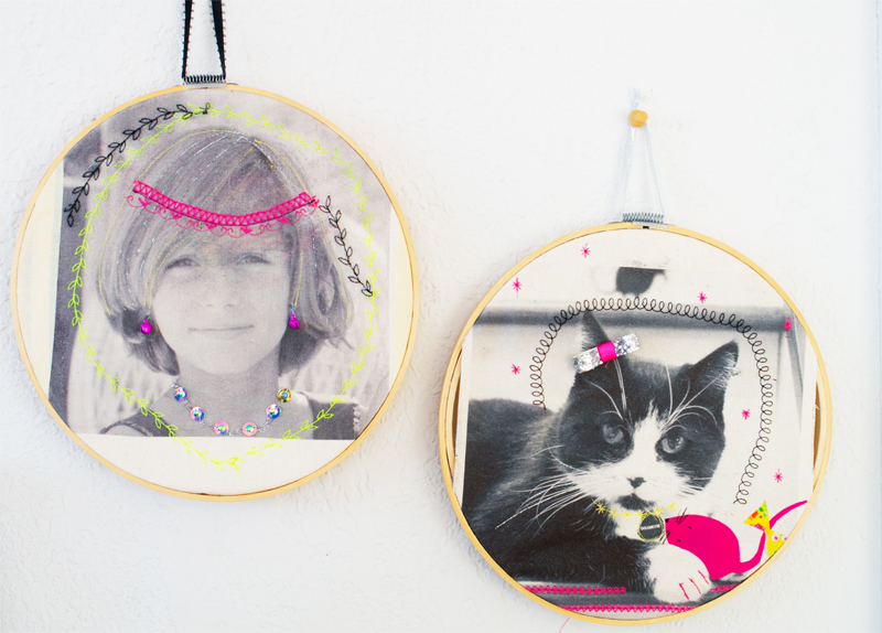 Customized photo hoops