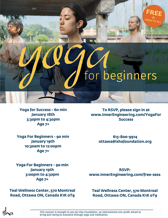 Yoga for beginners - multiple sessions -