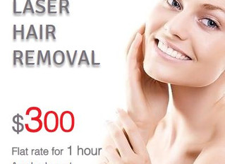 LASER HAIR REMOVAL, $300 per hour