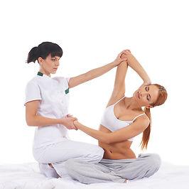Thai Yogic Massage performed at TEAL, Ottawa