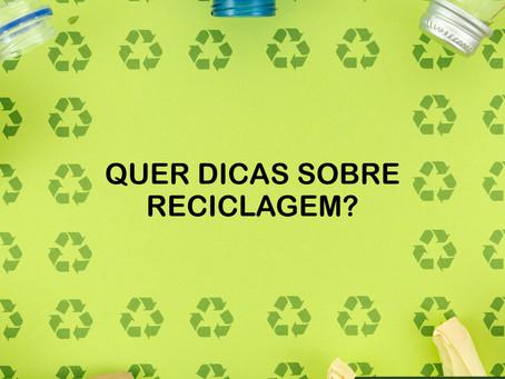 Quer dicas sobre reciclagem?