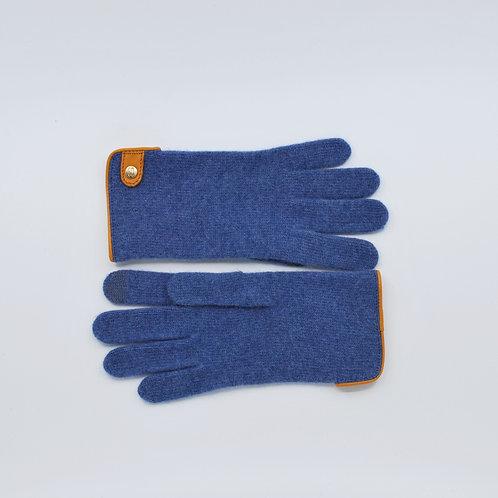 Kashmir Handschoenen met leren detail