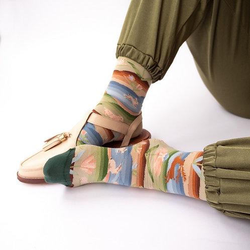 Katoenen sokken landschap