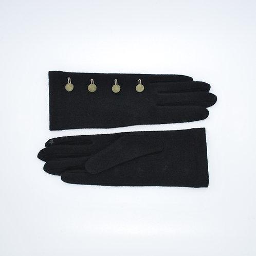 Semi lange wollen handschoenen met knopen