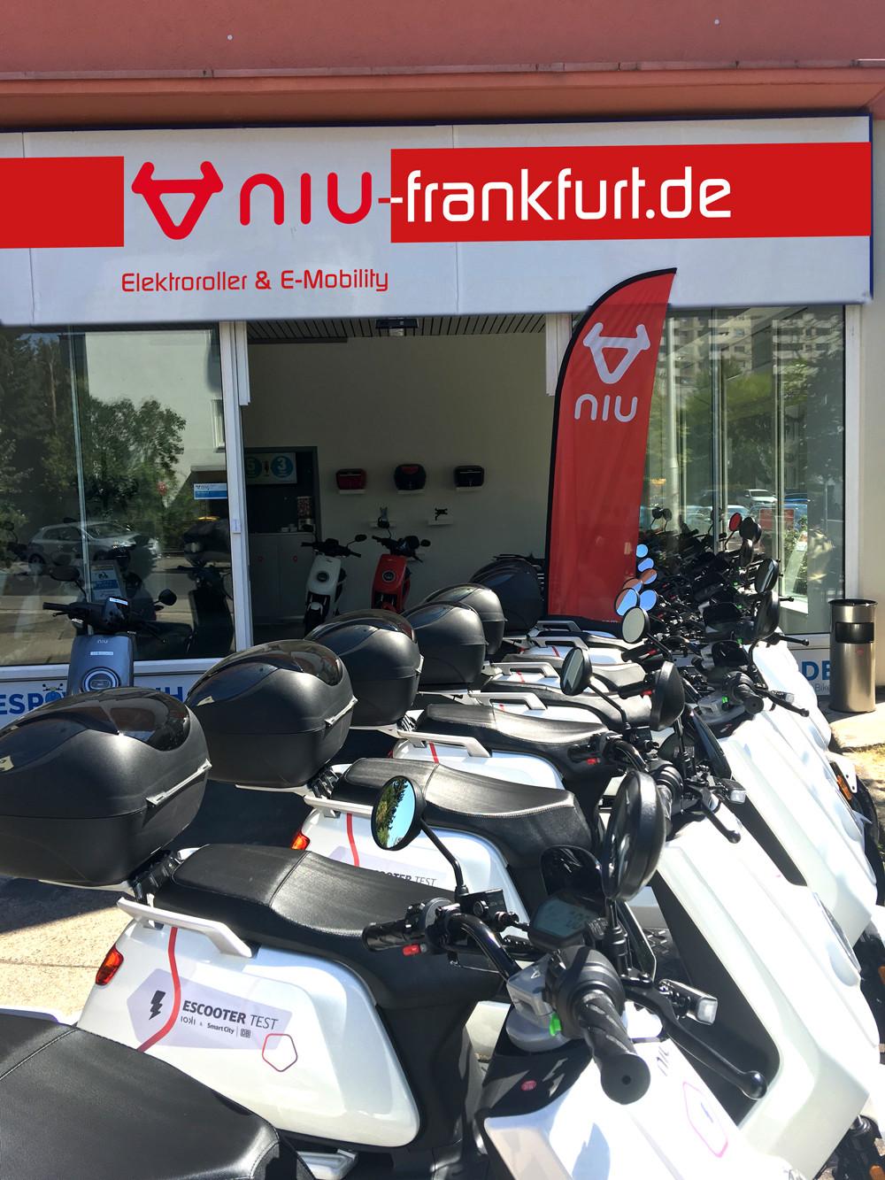 E-Scooter Sharing Frankfurt NIU N1S