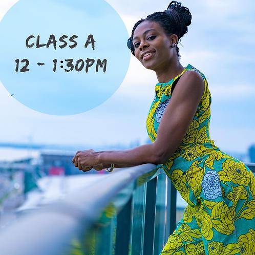 Class A: 12 - 1:30PM