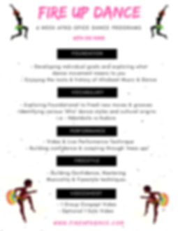 Nina Blanc's AfroSpice Program Schedule