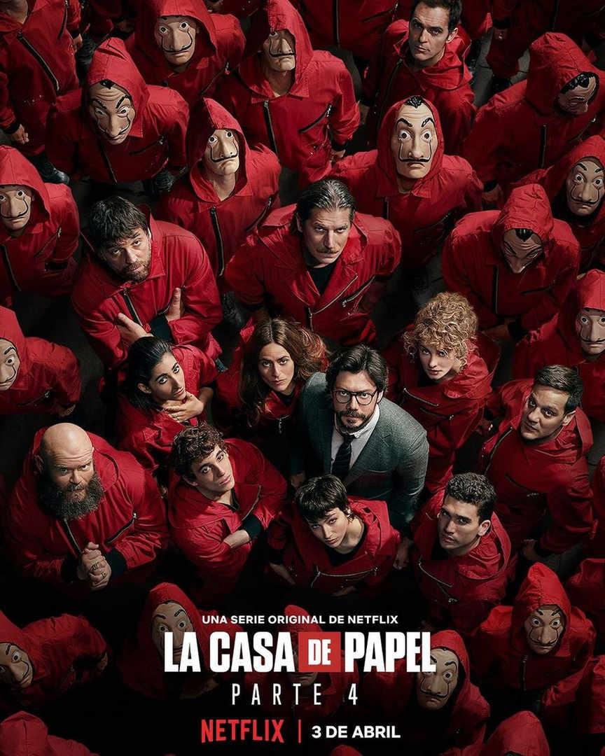 La Casa de Papel, parte 4, Netflix, Poster