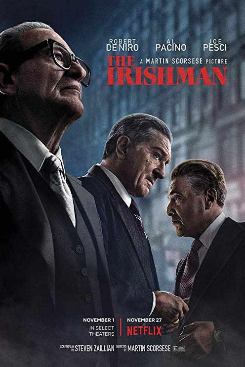 The Irish Man, Martin Scorsese, Al Pacino, Robert De Niro, Joe Pesci, Poster