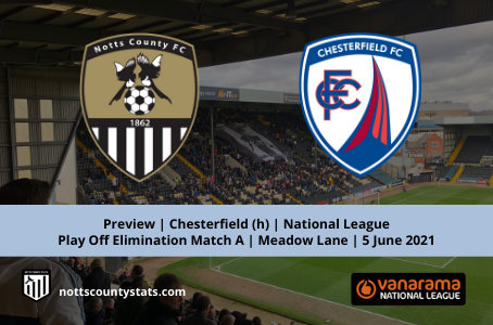 Preview - Chesterfield (h) National League Play Off Elimination Match A
