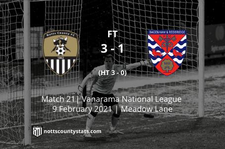 Match 21 - Dagenham & Redbridge (h)