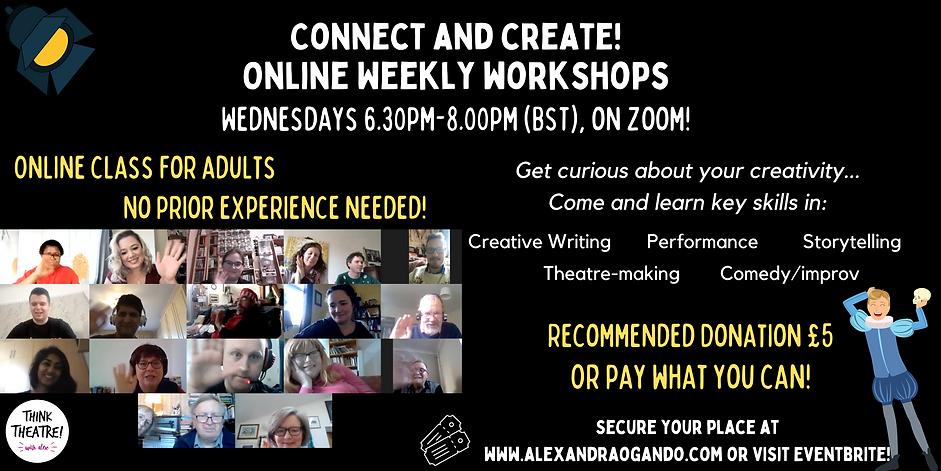 Copy of Adults Online Drama Workshops! (