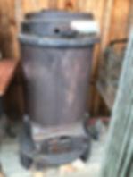 tall round stove