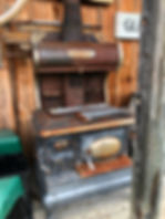canopy fair cast iron cookstove