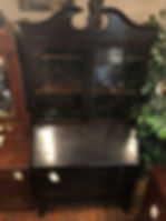 bookcase top secretary desk with key