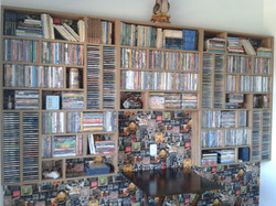 Estante para CDs e DVDs