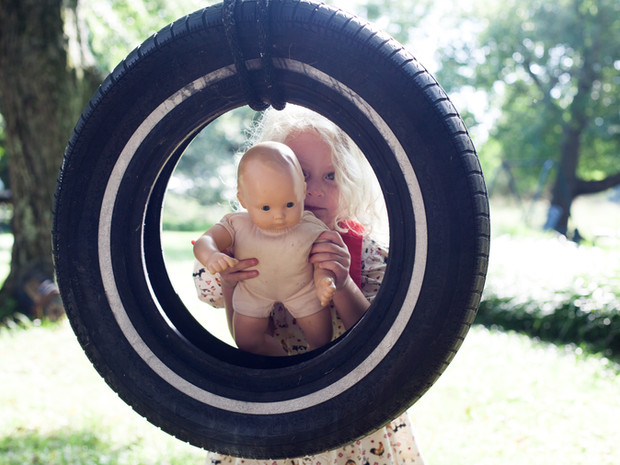 Little Girl Tire