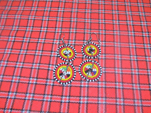 Maasai Inspired Round Earrings