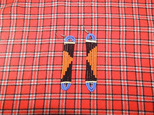 Black and Orange Earrings