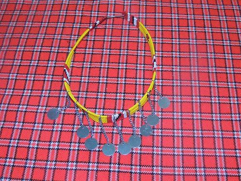 Yellow Maasai Inspired Chocker