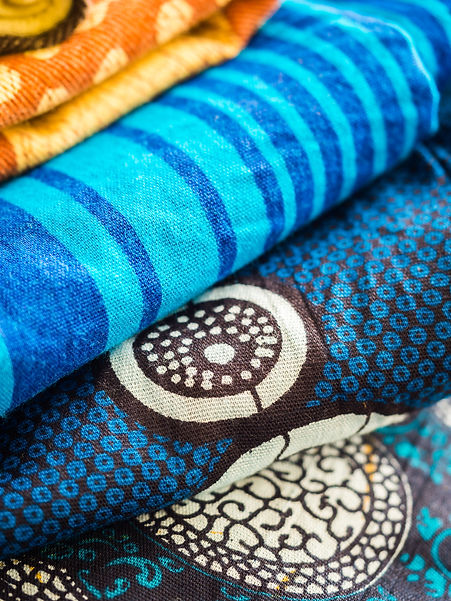 Colorful African fabric form Tanzania..j
