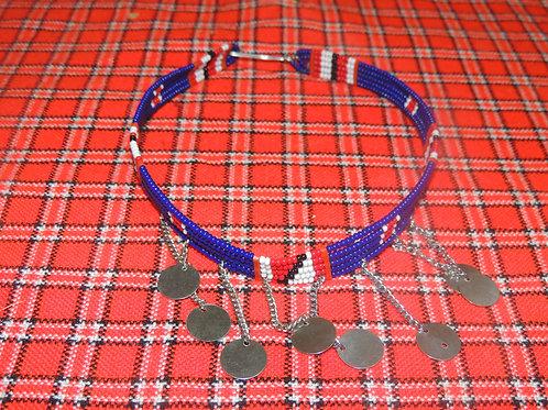 Blue Maasai Inspired Choker
