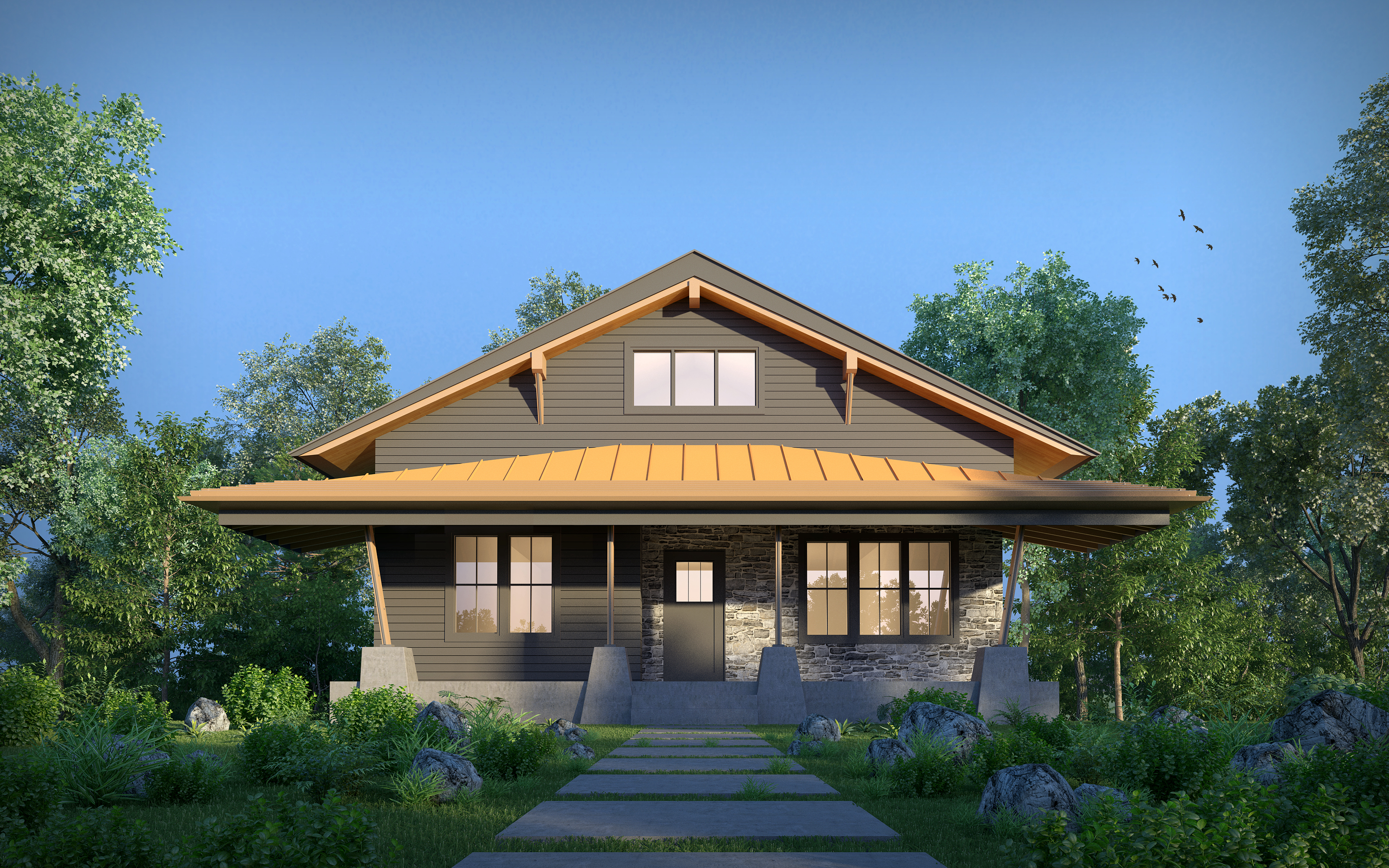 Design Build Renovation GoodHaus Contemporary BungalowNew Construction, Design, Build, Architecture,