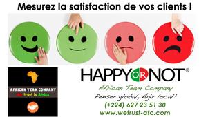 Optimisation de la relation clients : African Team Company  vous présente la solution Happy or not