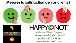 Optimisation de la relation clients : African Team Company  vous présente la solution Happy or not