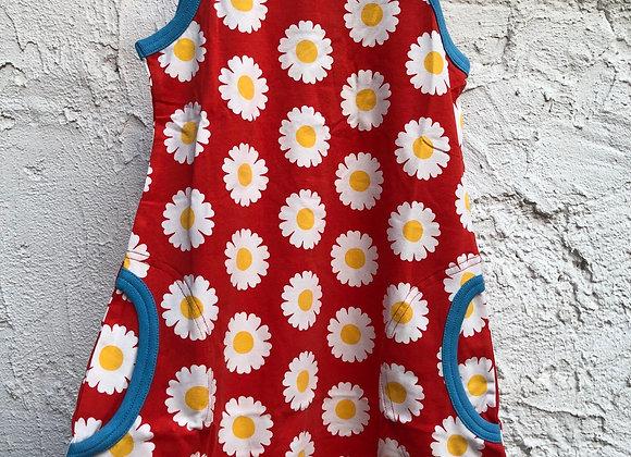 ärmelloses Kleid mit Gänseblümchen