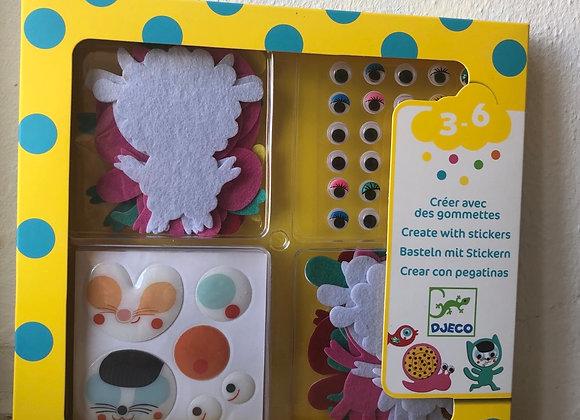 Basteln mit Stickern