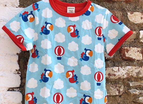 Shirt mit Papagei-Print