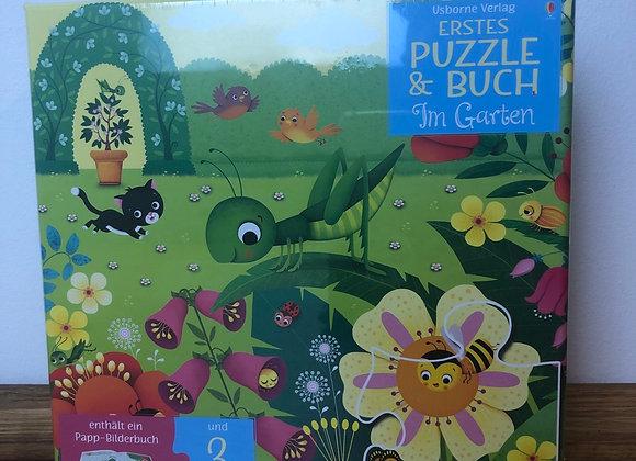 Erstes Puzzle und Buch