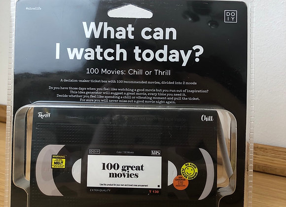 What can i watch today? 100 Filme - relaxed oder spannend