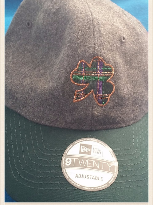 Plaid Shamrock with Copper Border Wool Cap